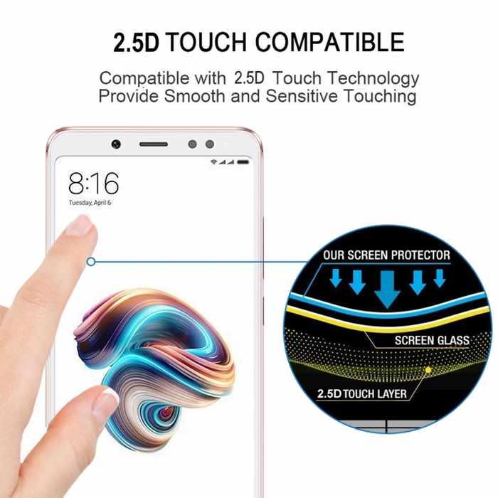 Xiaomi-Redmi-Note-5-Pro-Protector-Screen-White-2.5D-touch-compatible