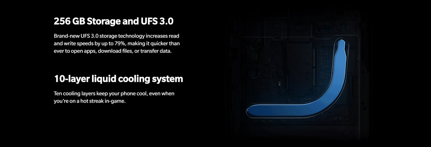 ONEPLUS 7 PRO BANNER - 10-layer liquid cooling system