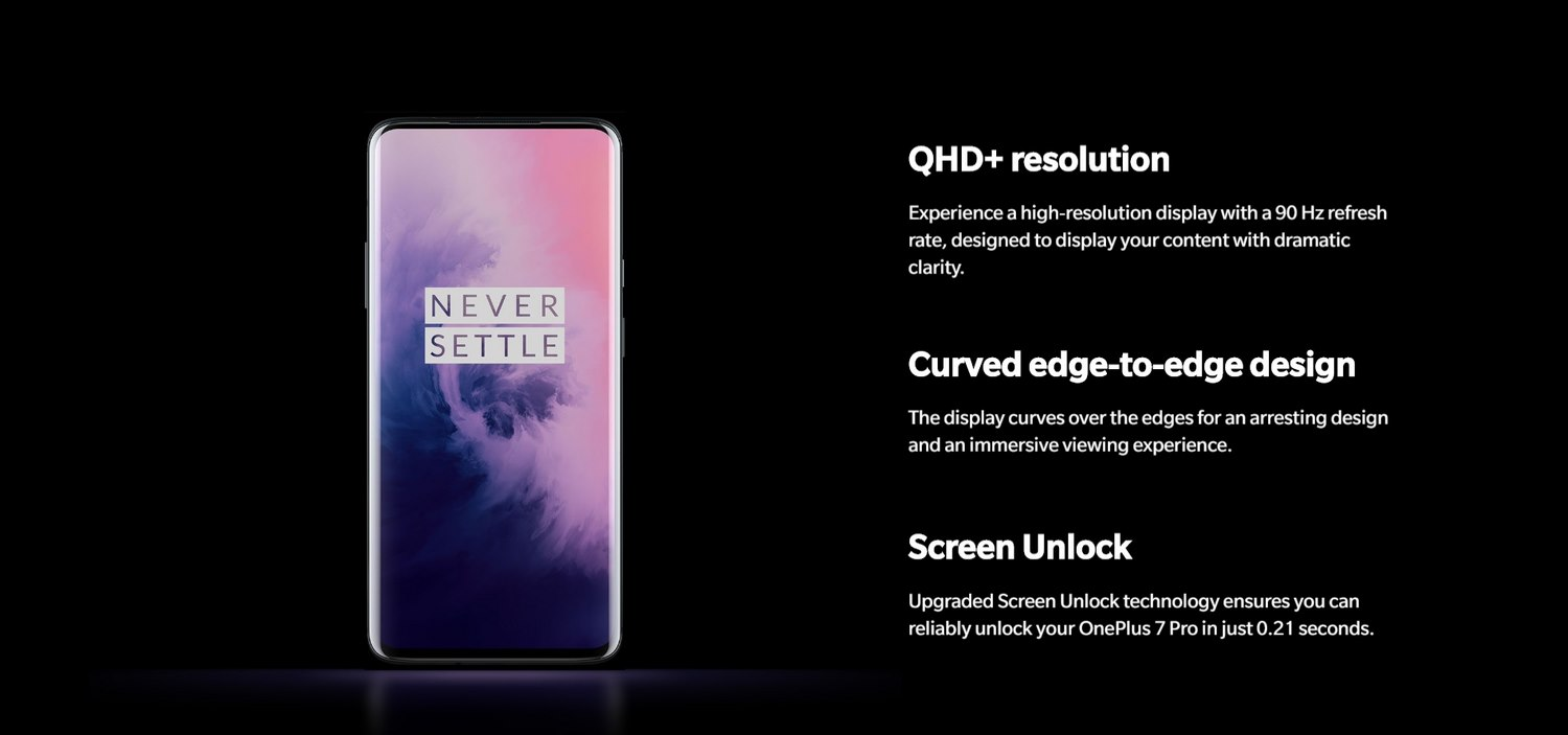 ONEPLUS 7 PRO BANNER - FLUID AMOLED DISPLAY