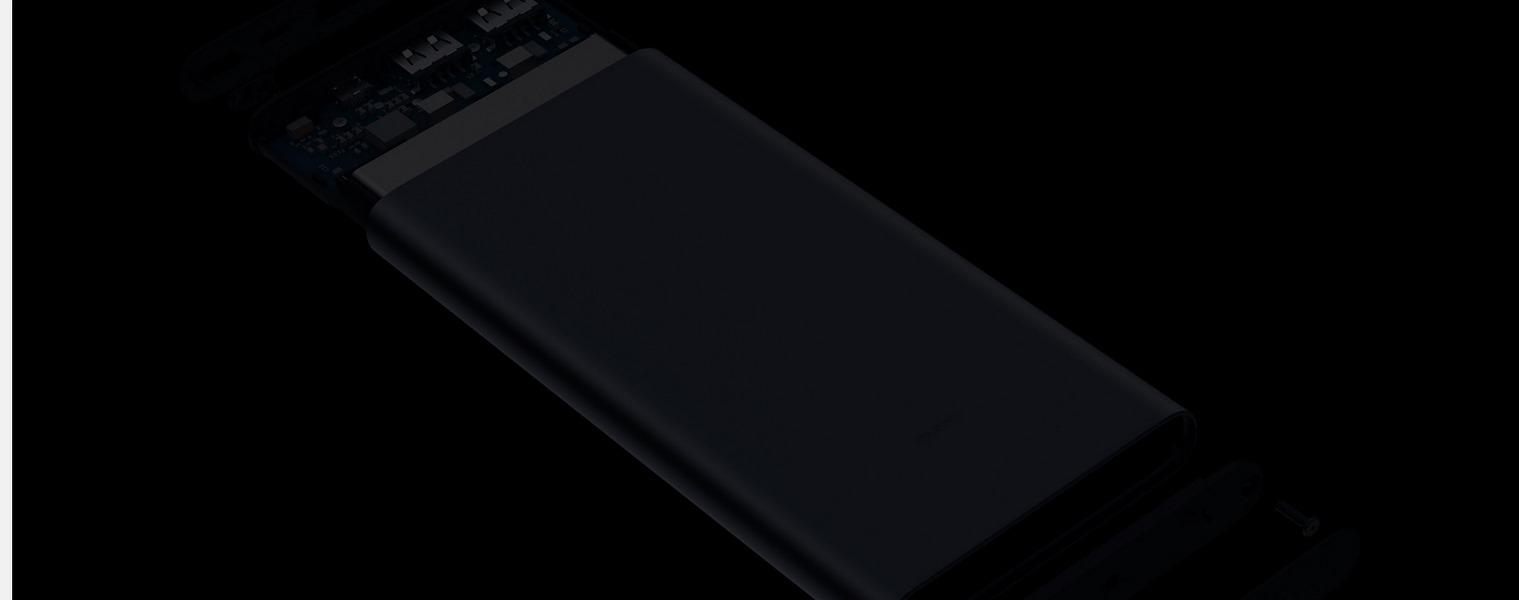 Xiaomi Mi 10000mAH Power Bank 2S Daul USB Quick Charge 3.0 Silver - Lithium polymer core