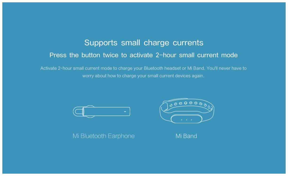 Xiaomi Mi 5000mAh Power Bank 2 - Small Current Charging Support