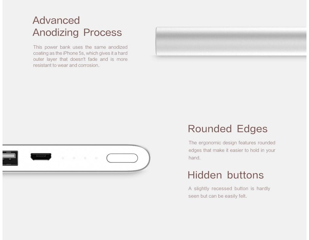 Xiaomi Mi 5000mAh Power Bank 2 - Wear & Corrosion Resistance