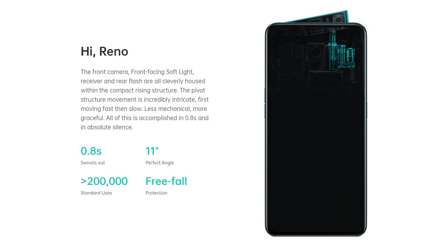 OPPO-RENO-5G-BANNER - The front camera, Front-facing Soft Light