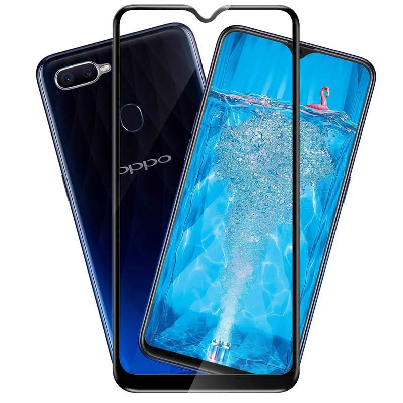 Oppo F9 Pro Tempered Glass 9H Full Glue Edge to Edge High quality  Protective Glass Film Screen Protector - Black