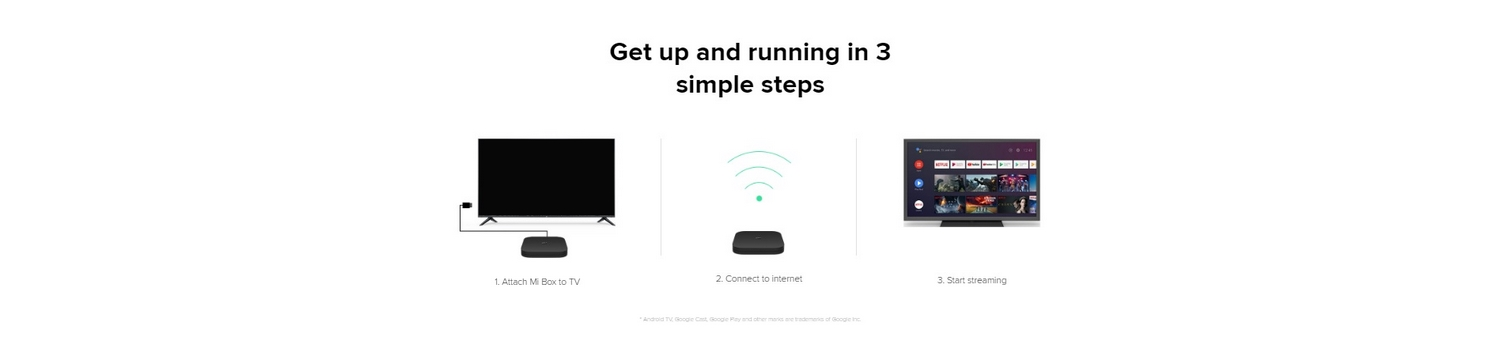 Xiaomi-Mi-Box-S-4K-Tv-Banner - Get up and running in 3 simple steps