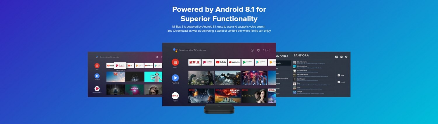 Xiaomi-Mi-Box-S-4K-Tv-Banner - Powered by Android 8.1 (Oreo)