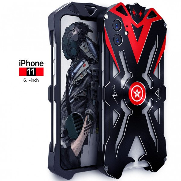 Apple iPhone 11 Aviation Aluminum Alloy Shockproof Armor Metal Case Cover - Black