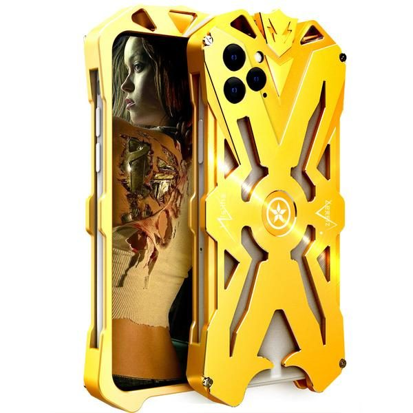 Apple iPhone 11 Pro Aviation Aluminum Alloy Shockproof Armor Metal Case Cover - Gold