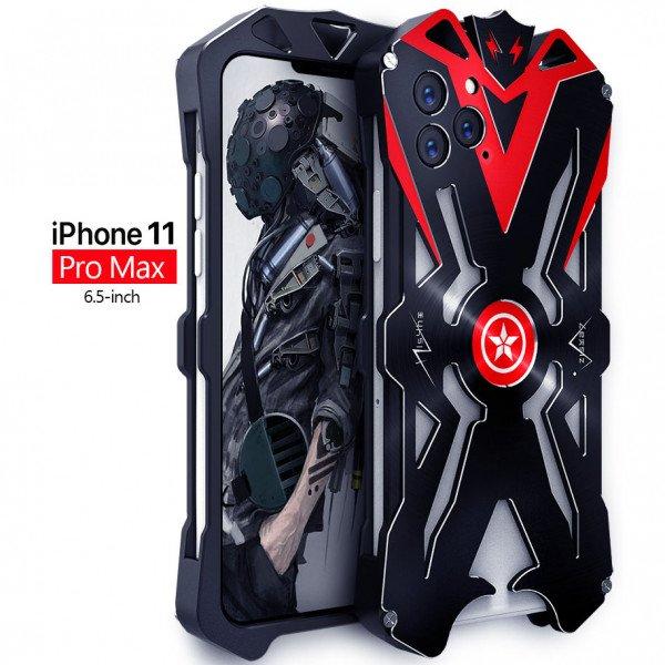 Apple iPhone 11 Pro Max Aviation Aluminum Alloy Shockproof Armor Metal Case Cover - Black