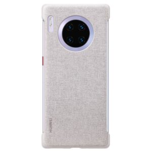 HUAWEI-MATE-30-PRO-LEATHER-CASE-ELEGANT-GREY - BACK
