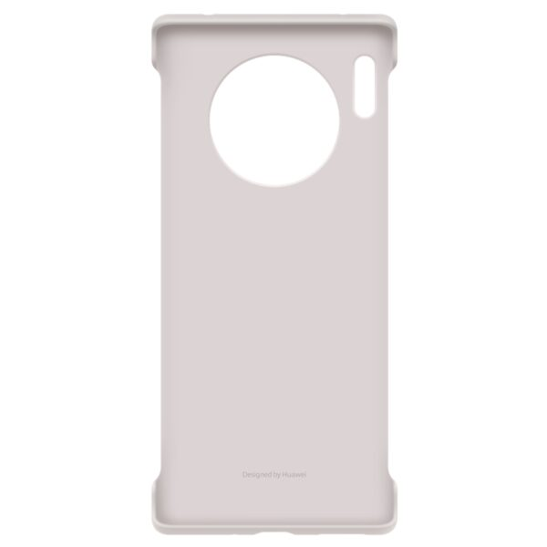 HUAWEI-MATE-30-PRO-LEATHER-CASE-ELEGANT-GREY - FRONT