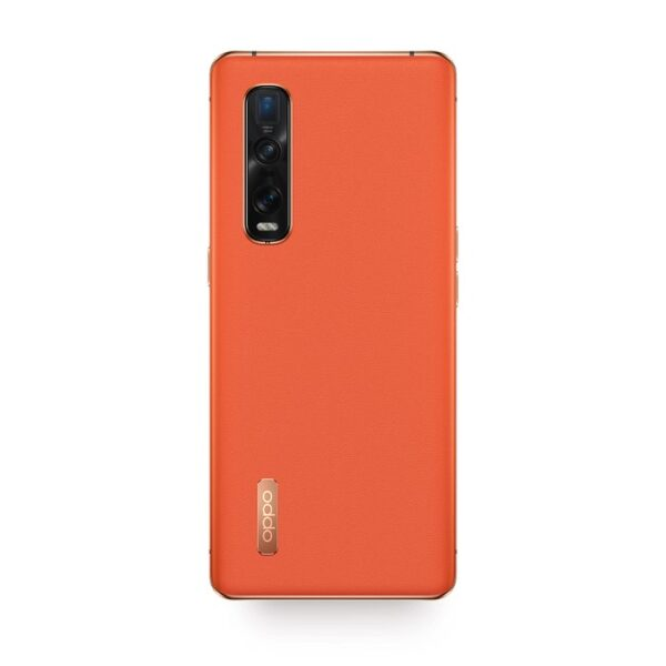 OPPO-FIND-X2-PRO-5G-ORANGE-LEATHER-BACK