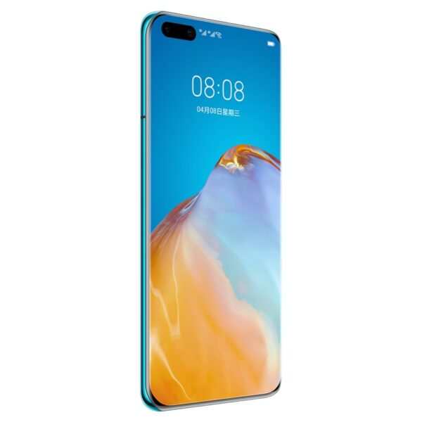 HUAWEI-P40-PRO-5G-DEEP-SEA-BLUE-FRONT-TILTED