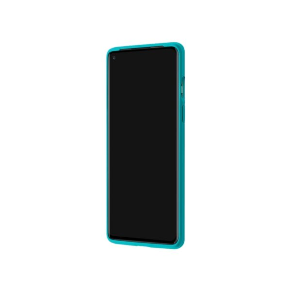 ONEPLUS-8-SANDSTONE-BUMPER-CASE-CYAN-FRONT-TILTED