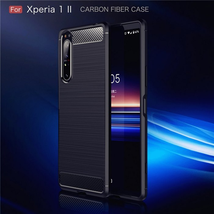 Sony-Xperia-1-II-Case-Silicone-Rugged-Armor-Soft-Cover-Case