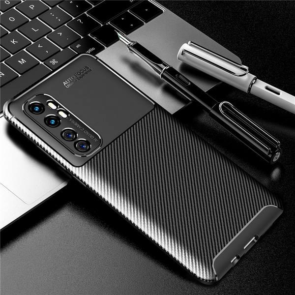 Xiaomi-Mi-Note-10-Lite-Cover-Slim-Soft-TPU-Carbon-Fiber-Back-Cover (Black)