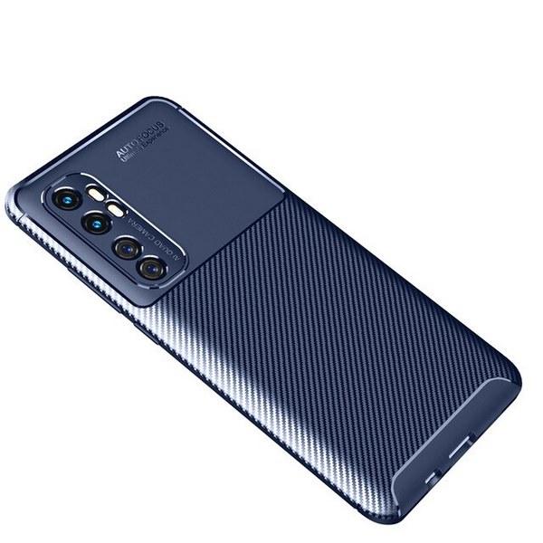 Xiaomi-Mi-Note-10-Lite-Cover-Slim-Soft-TPU-Carbon-Fiber-Back-Cover (Blue)