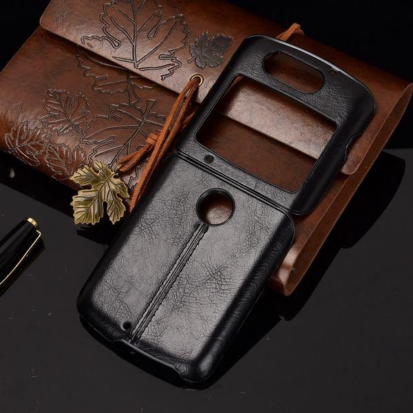 Motrola Razr 5G Leather Case Black