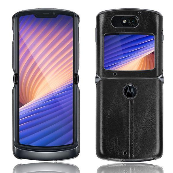 Motrola Razr 5G Leather Case - Black