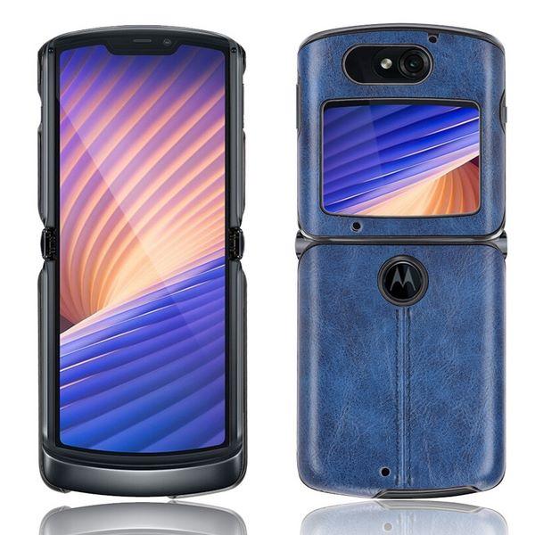 Motrola Razr 5G Leather Case - Blue