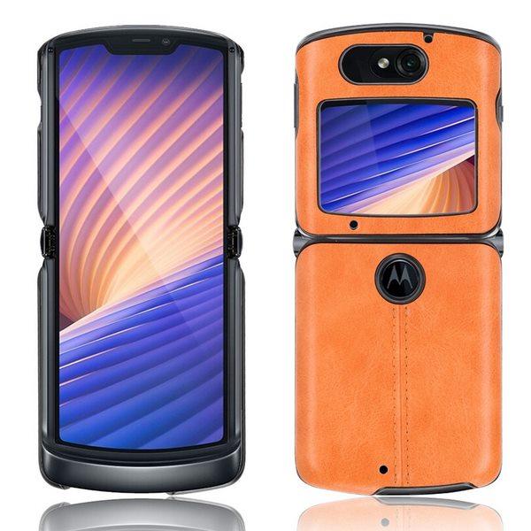 Motrola Razr 5G Leather Case - Orange