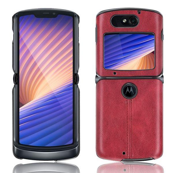 Motrola Razr 5G Leather Case - Red
