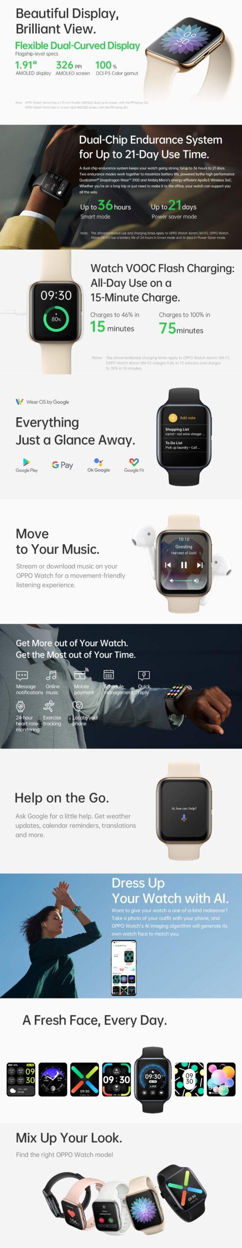 OPPO Watch Global 46mm Smartwatch Banner Alezay