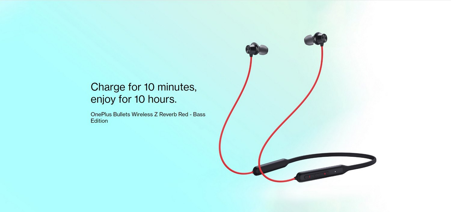 OnePlus Bullets Wireless Z Reverb Red - Bass Edition Banner