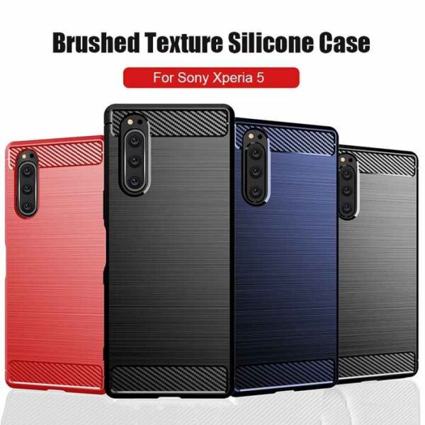 Sony-Xperia-5-II-Case-Silicone-Rugged-Armor-Soft-Cover-Case