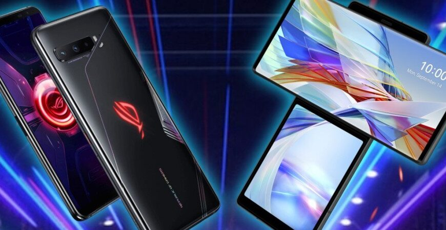Comparison of LG wing and Asus ROG Phone 3 (Republic of Gamers)
