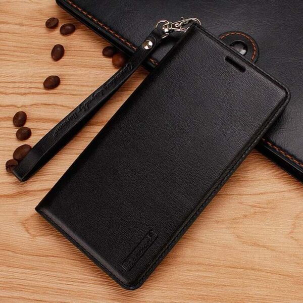 Sony Xperia 1 II Wallet Leather Flip Case by Hanman (BLACK)