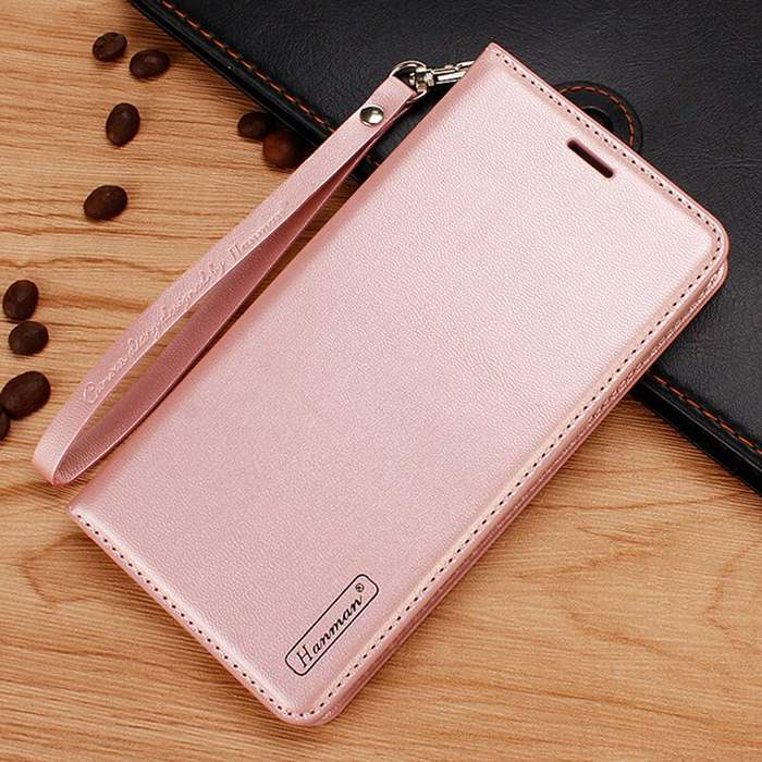 Sony Xperia 1 II Wallet Leather Flip Case by Hanman (ROSE GOLD)