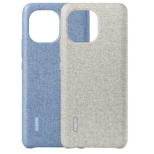 Xiaomi Mi 11 Plain Leather Imitation Woven Protective Case