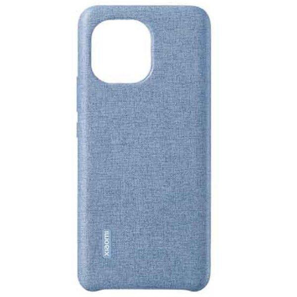 Xiaomi Mi 11 Plain Leather Imitation Woven Protective Case (Blue)