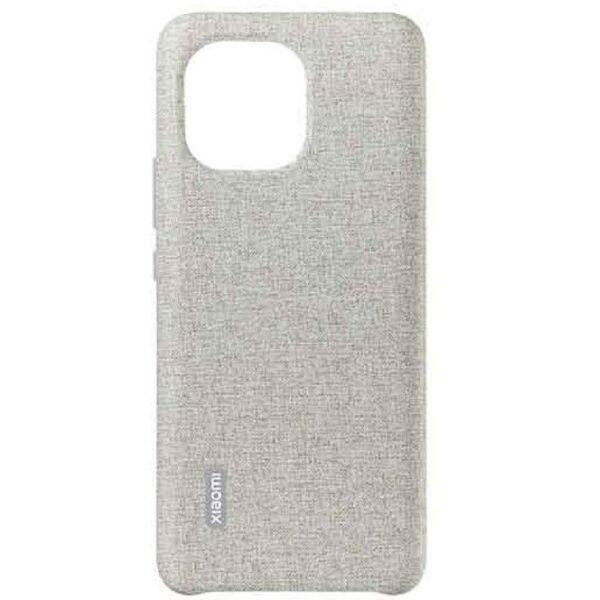 Xiaomi Mi 11 Plain Leather Imitation Woven Protective Case (Grey)