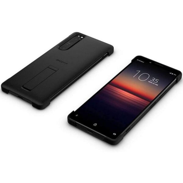 SONY XPERIA 1 III STYLE COVER WITH STAND - BLACK (3)