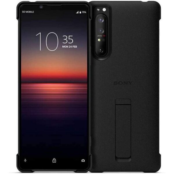 SONY XPERIA 1 III STYLE COVER WITH STAND - BLACK