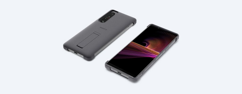 SONY XPERIA 1 III STYLE COVER WITH STAND - GREY (1)