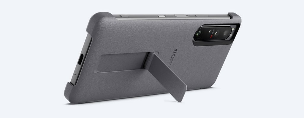 SONY XPERIA 1 III STYLE COVER WITH STAND - GREY