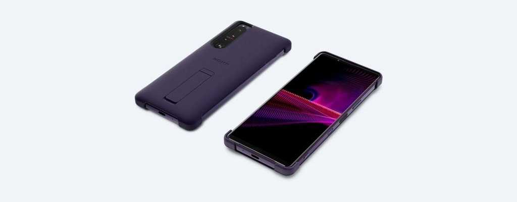 SONY XPERIA 1 III STYLE COVER WITH STAND - PURPLE (1)