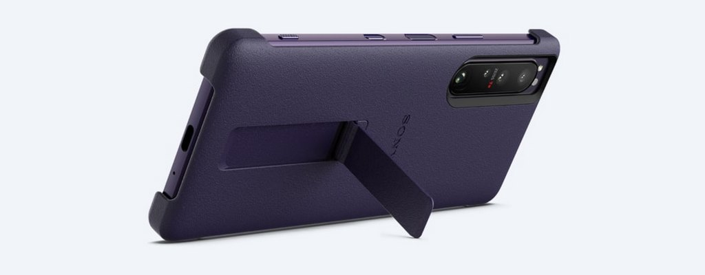 SONY XPERIA 1 III STYLE COVER WITH STAND - PURPLE