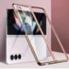 Samsung Galaxy Z Fold3 Crystal Clear Transparent Case - Gold