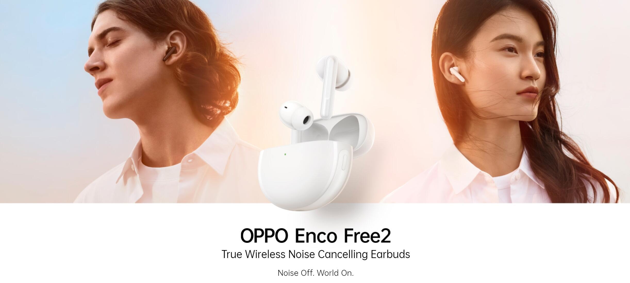 OPPO Enco Free 2 TWS Earbuds - Main Banner - Alezay Kuwait